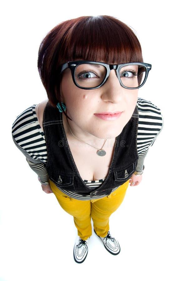 αστείο κορίτσι nerd στοκ φωτογραφίες