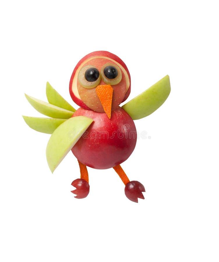 Αστείο κουνέλι φιαγμένο από πράσινα μήλο και ακτινίδιο στοκ εικόνες με δικαίωμα ελεύθερης χρήσης