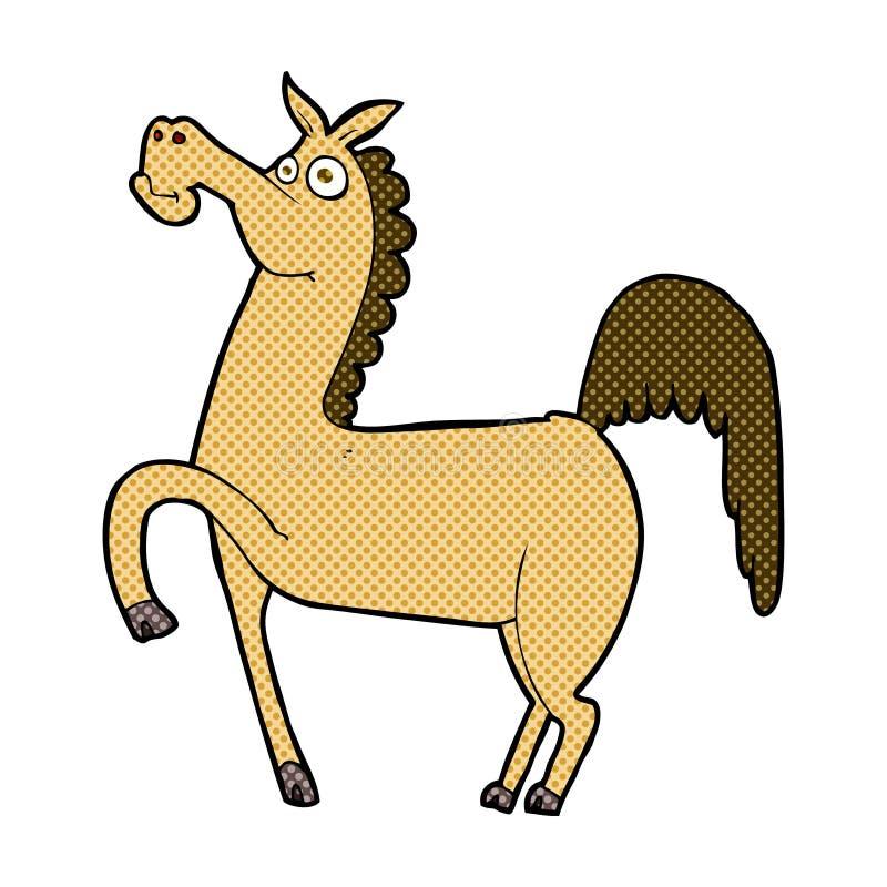 αστείο κωμικό άλογο κινούμενων σχεδίων ελεύθερη απεικόνιση δικαιώματος