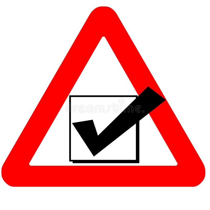 Αστείο μαύρο εικονίδιο παραθύρων ελέγχου οδικών σημαδιών προειδοποίησης που απομονώνεται ελεύθερη απεικόνιση δικαιώματος