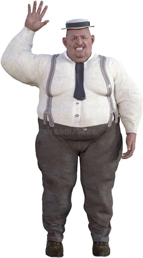 Αστείο παχύσαρκο υπέρβαρο άτομο που απομονώνεται ελεύθερη απεικόνιση δικαιώματος