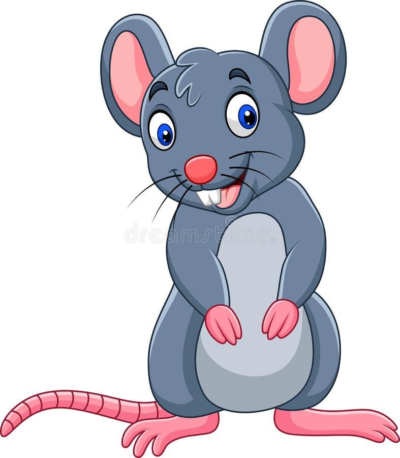 Αστείο ποντίκι κινούμενων σχεδίων ελεύθερη απεικόνιση δικαιώματος