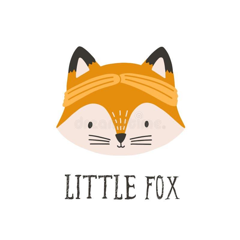Αστείο πρόσωπο ή κεφάλι της αλεπούς που φορά headband Αστείο χαριτωμένο ευτυχές ρύγχος του δασικού ζώου που απομονώνεται στο άσπρ ελεύθερη απεικόνιση δικαιώματος