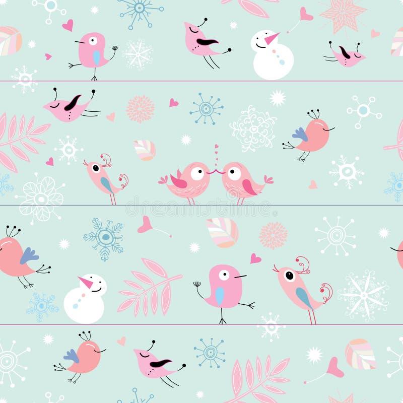 αστείο πρότυπο πουλιών άν&epsil ελεύθερη απεικόνιση δικαιώματος
