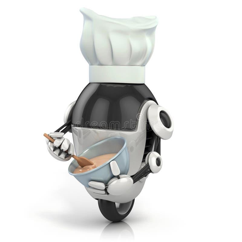 Αστείο ρομπότ - μάγειρας διανυσματική απεικόνιση