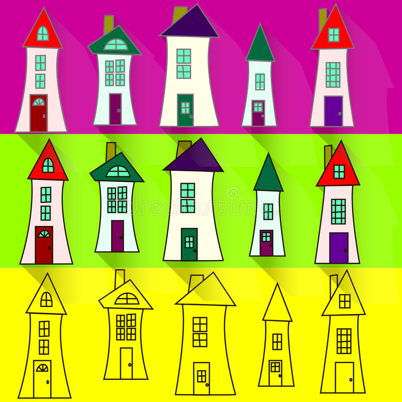 Αστείο σπίτι απεικόνιση αποθεμάτων