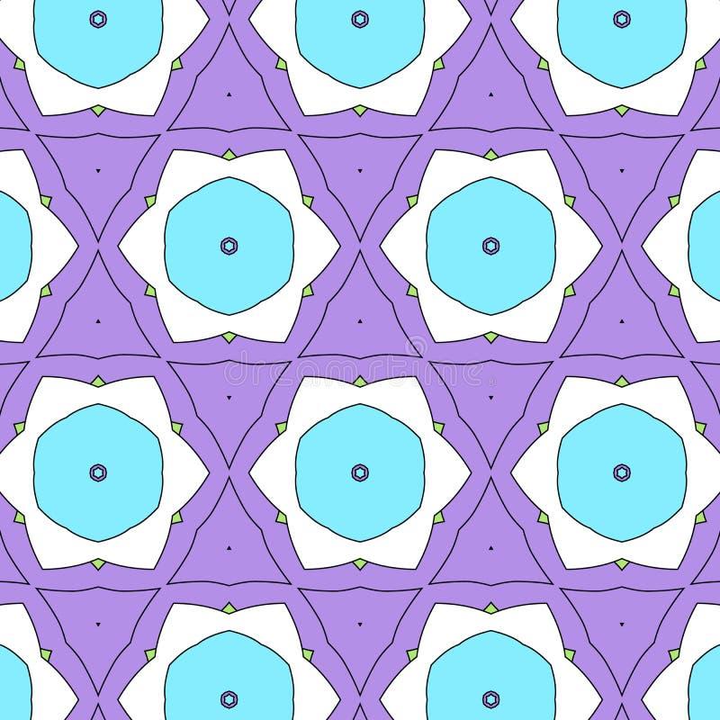 Αστείο σχέδιο κινούμενων σχεδίων παιδιών με τη γεωμετρική διακόσμηση Ροζ και μπλε σχεδίων ελεύθερη απεικόνιση δικαιώματος