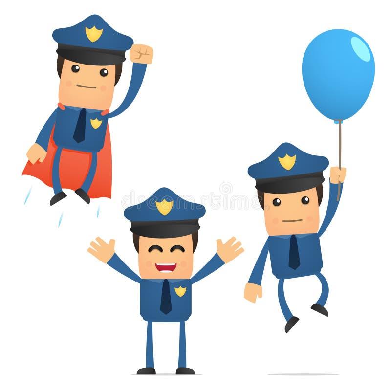 αστείο σύνολο αστυνομι& διανυσματική απεικόνιση