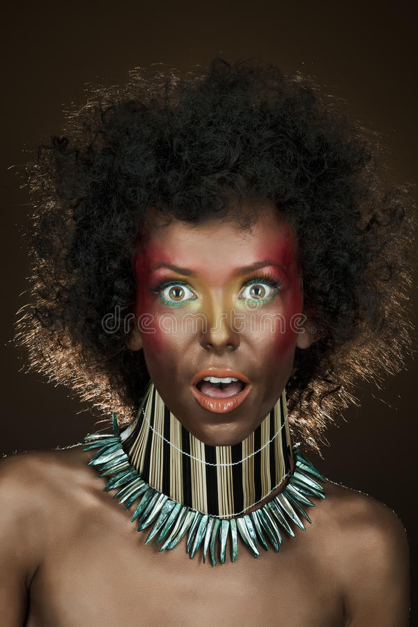 Download αστείο τρίχωμα κοριτσιών Afro Στοκ Εικόνες - εικόνα από διασκέδαση, κορίτσι: 17060106