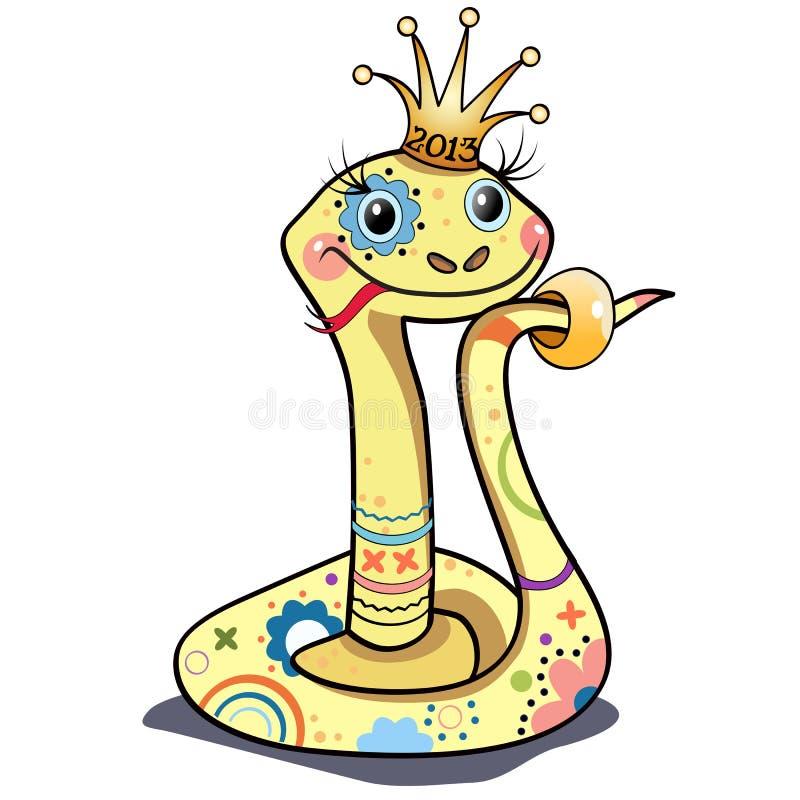 Αστείο φίδι διανυσματική απεικόνιση