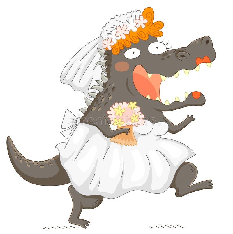 Αστείο bridezilla διανυσματική απεικόνιση