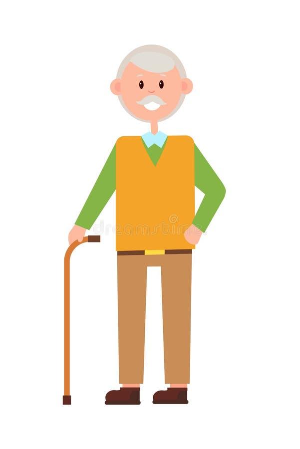 Αστείο Grandad, φωτεινό έμβλημα, διανυσματική απεικόνιση απεικόνιση αποθεμάτων