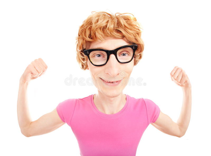 Αστείο nerdy athletee στοκ εικόνα με δικαίωμα ελεύθερης χρήσης