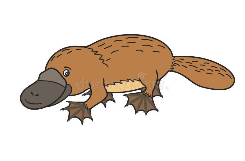 Αστείο platypus αυστηρότητας διανυσματική απεικόνιση