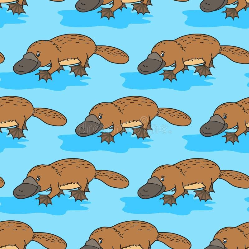 Αστείο platypus αυστηρότητας ελεύθερη απεικόνιση δικαιώματος