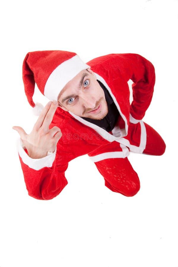 αστείο santa Claus στοκ εικόνες με δικαίωμα ελεύθερης χρήσης