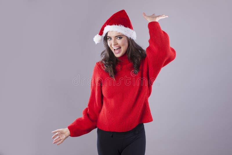 Αστείο Santa ` s λίγος αρωγός στοκ φωτογραφία με δικαίωμα ελεύθερης χρήσης