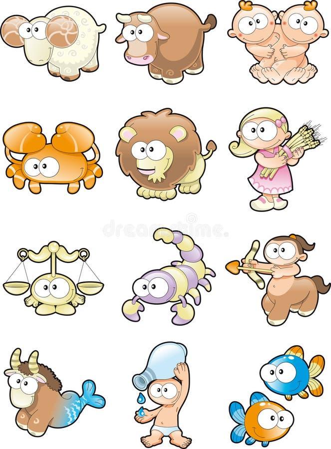 αστείο zodiac διανυσματική απεικόνιση