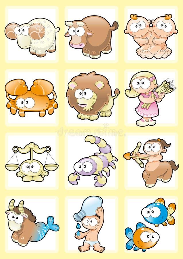 αστείο zodiac απεικόνιση αποθεμάτων