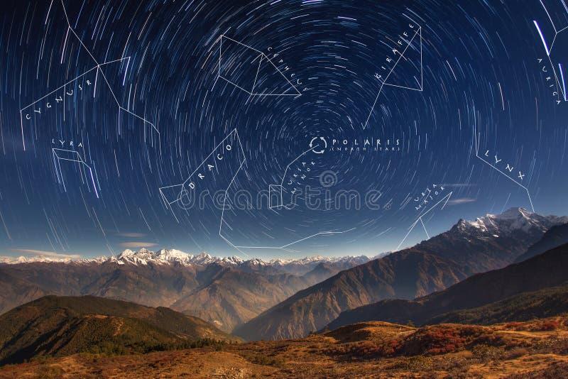 Αστερισμοί στο βόρειο ημισφαίριο στοκ εικόνα με δικαίωμα ελεύθερης χρήσης