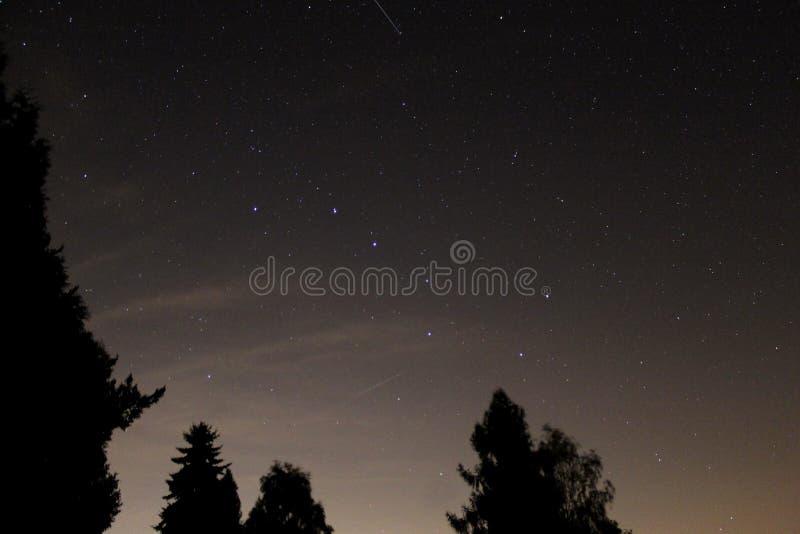 αστερισμός - μεγάλο αυτοκίνητο πέρα από την Τσεχία στη νύχτα στοκ φωτογραφία με δικαίωμα ελεύθερης χρήσης