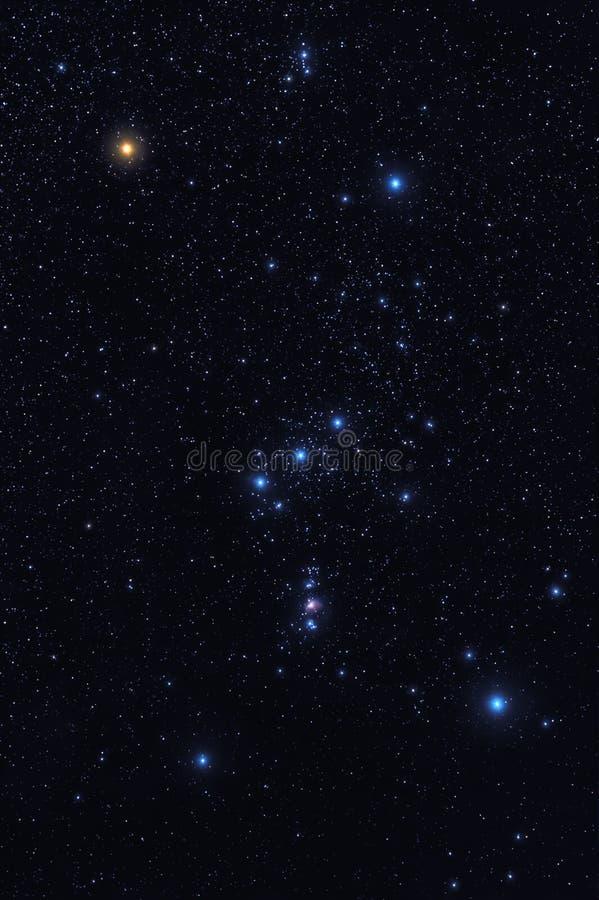 Αστερισμός του Orion στοκ εικόνες