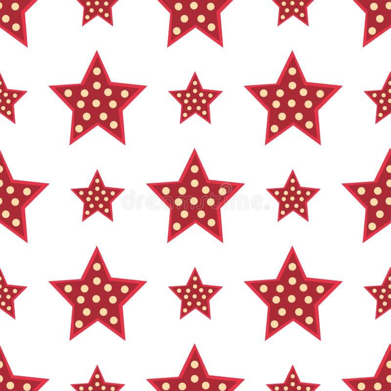 Αστεριών κόκκινο διακοσμητικό σύγχρονο τυπωμένων υλών διάνυσμα διακοσμήσεων σχεδίου σύστασης υποβάθρου σχεδίων ταπετσαριών ζωηρόχ ελεύθερη απεικόνιση δικαιώματος