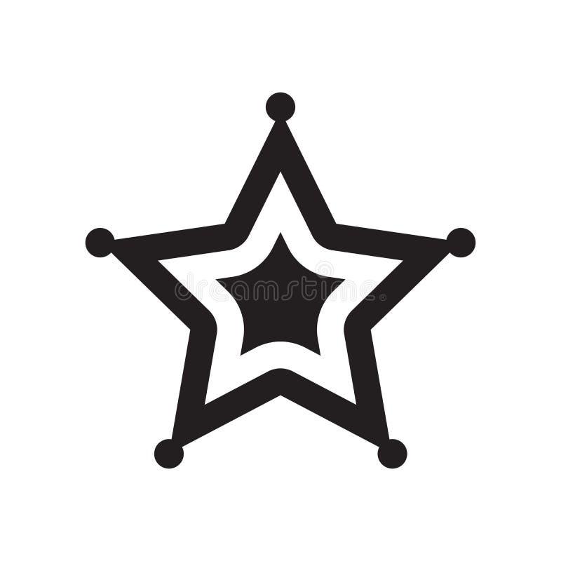 Αστεριών σημάδι και σύμβολο εικονιδίων διανυσματικό που απομονώνονται στο άσπρο υπόβαθρο, S απεικόνιση αποθεμάτων