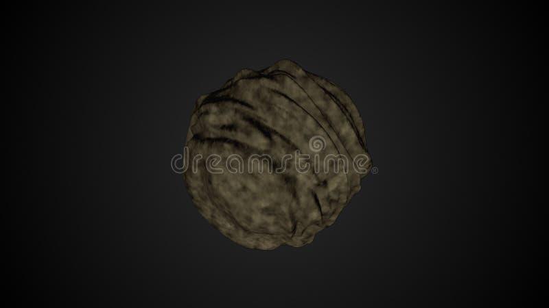 Αστεροειδής σύγχρονος τρισδιάστατος καθιστά τον υπολογιστή που παράγεται δημιουργικό για το θέμα αστρονομίας, απεικόνιση αποθεμάτων