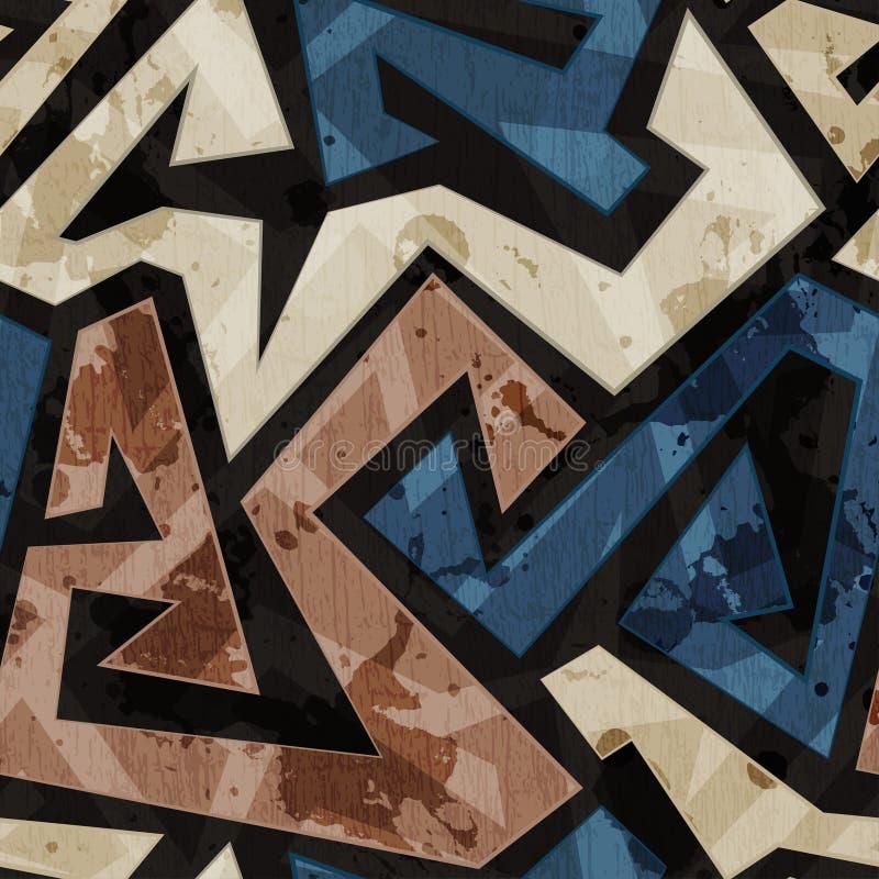 Αστική άνευ ραφής σύσταση γκράφιτι με την επίδραση grunge απεικόνιση αποθεμάτων
