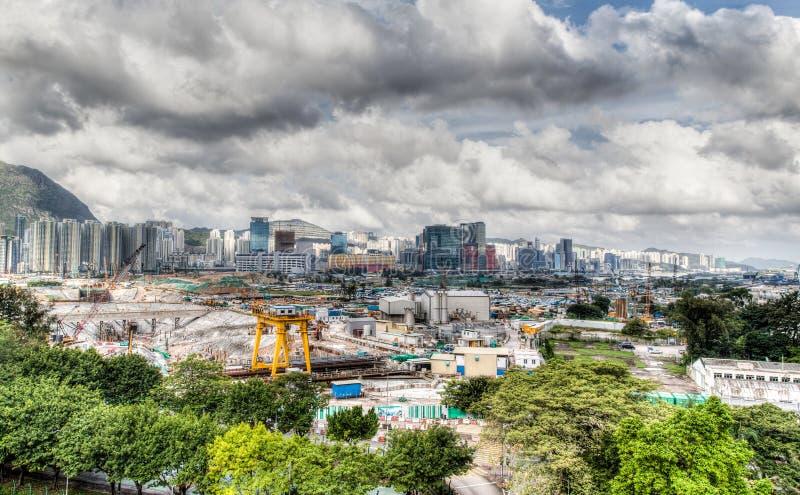 Αστική ανάπτυξη επί του παλαιού τόπου αερολιμένων του Χογκ Κογκ στοκ φωτογραφίες