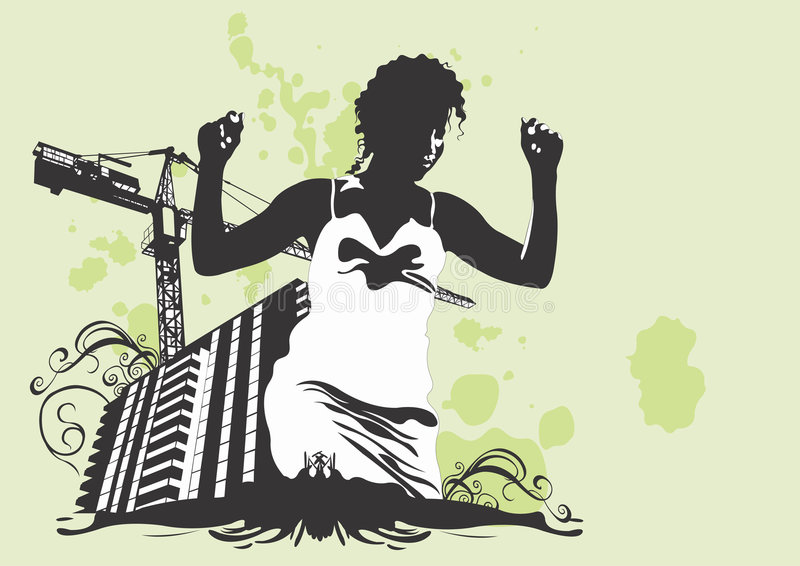 Download αστική γυναίκα διανυσματική απεικόνιση. εικονογραφία από αποχής - 1541735