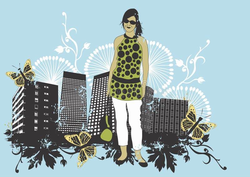 αστική γυναίκα απεικόνιση αποθεμάτων