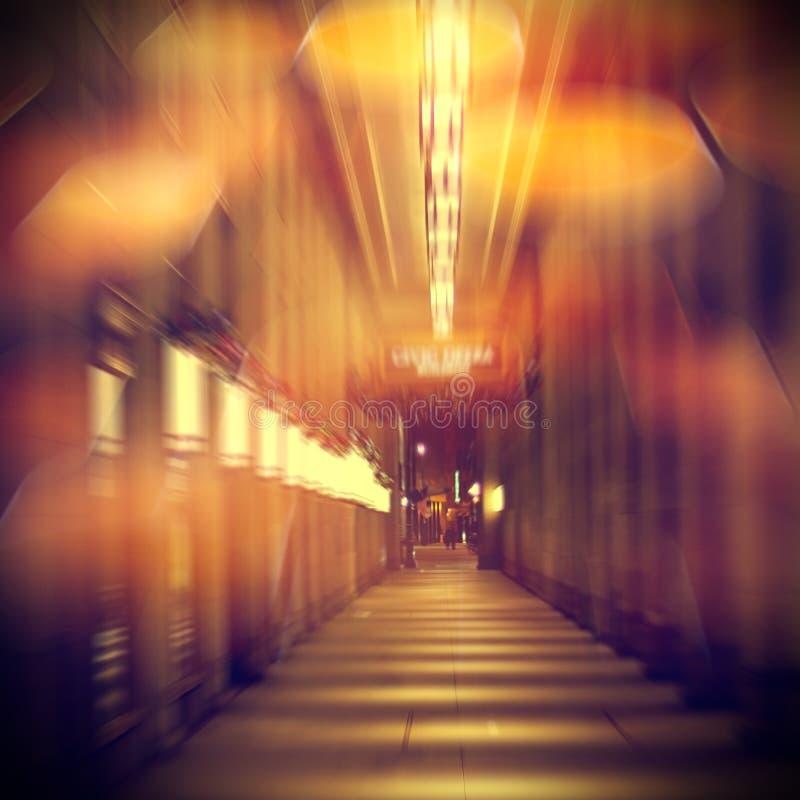 Αστική ζωή τη νύχτα στοκ εικόνες