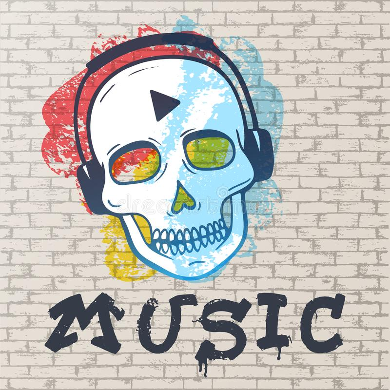 Αστική ορισμένη grunge ζωγραφική οδών Αφηρημένο υπόβαθρο, τουβλότοιχος που χρωματίζεται με τα σημεία των διαφορετικών χρωμάτων, έ απεικόνιση αποθεμάτων