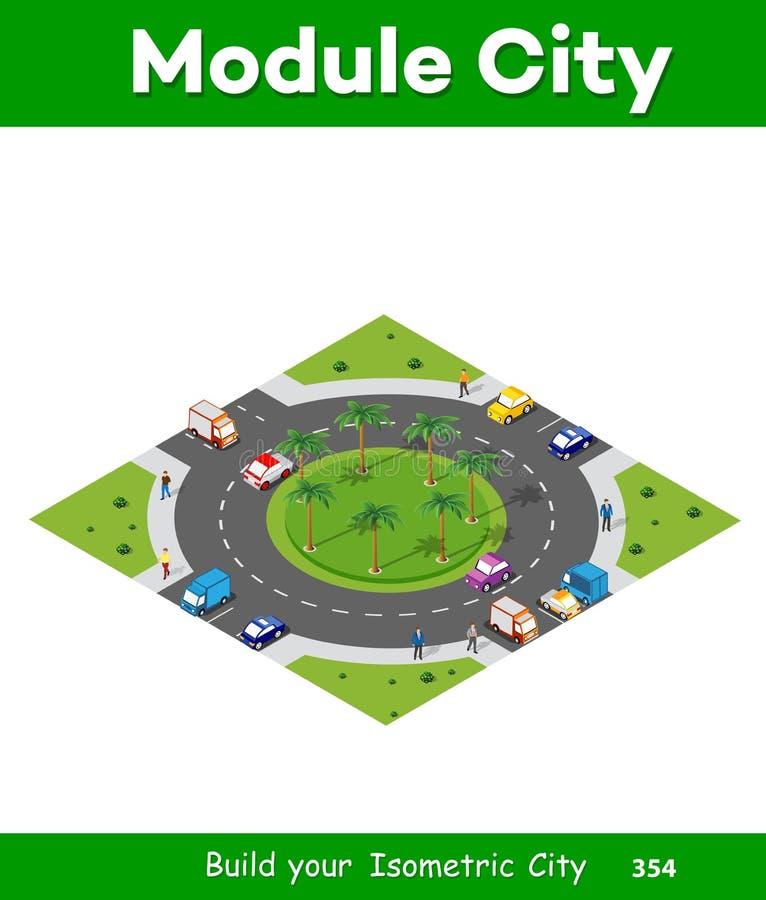 Αστική περιοχή με μια διατομή ελεύθερη απεικόνιση δικαιώματος