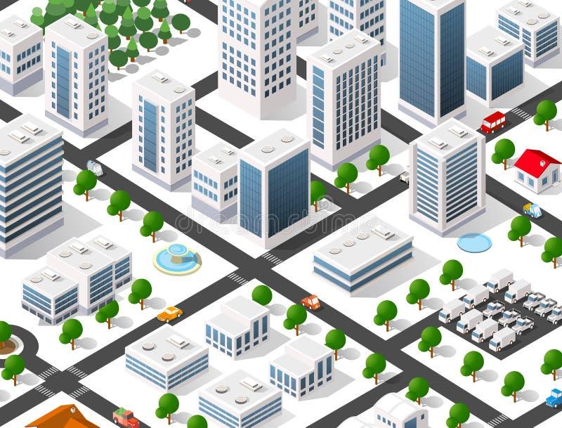 Αστική περιοχή της πόλης διανυσματική απεικόνιση