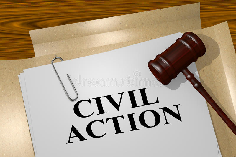 Αστική δράση - νομική έννοια απεικόνιση αποθεμάτων