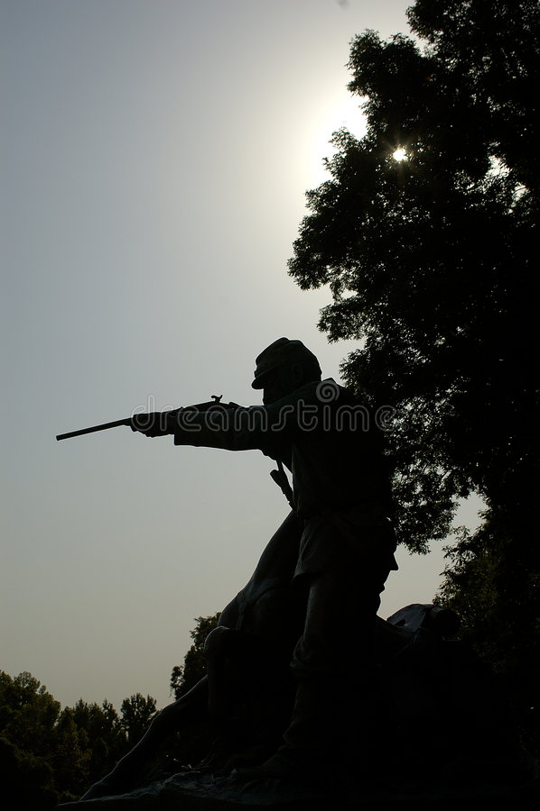 αστικός πόλεμος μνημείων vicks στοκ φωτογραφία
