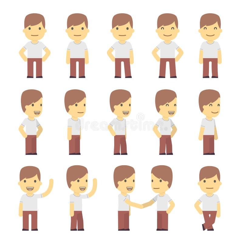 Αστικός χαρακτήρας - που τίθεται σε διαφορετικό θέτει. απλός απεικόνιση αποθεμάτων