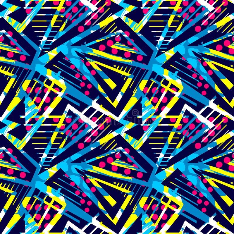 Αστικό άνευ ραφής γεωμετρικό σχέδιο Grunge, σχέδιο στο graffity αστικό ελεύθερη απεικόνιση δικαιώματος