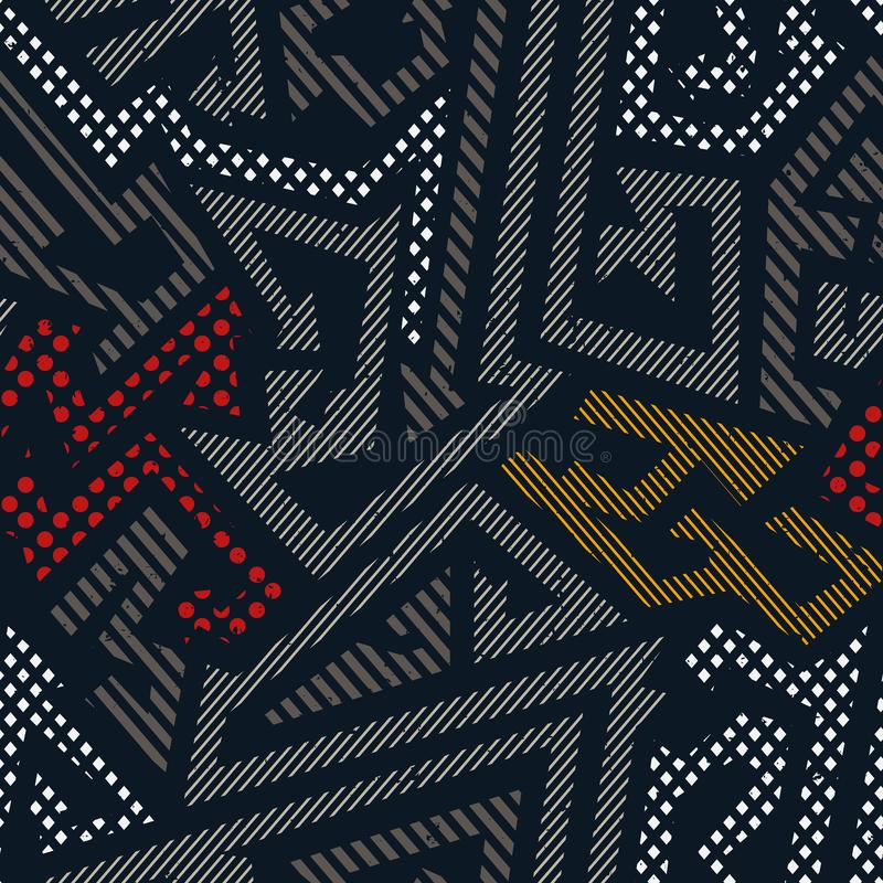 Αστικό γεωμετρικό σχέδιο χρώματος διανυσματική απεικόνιση