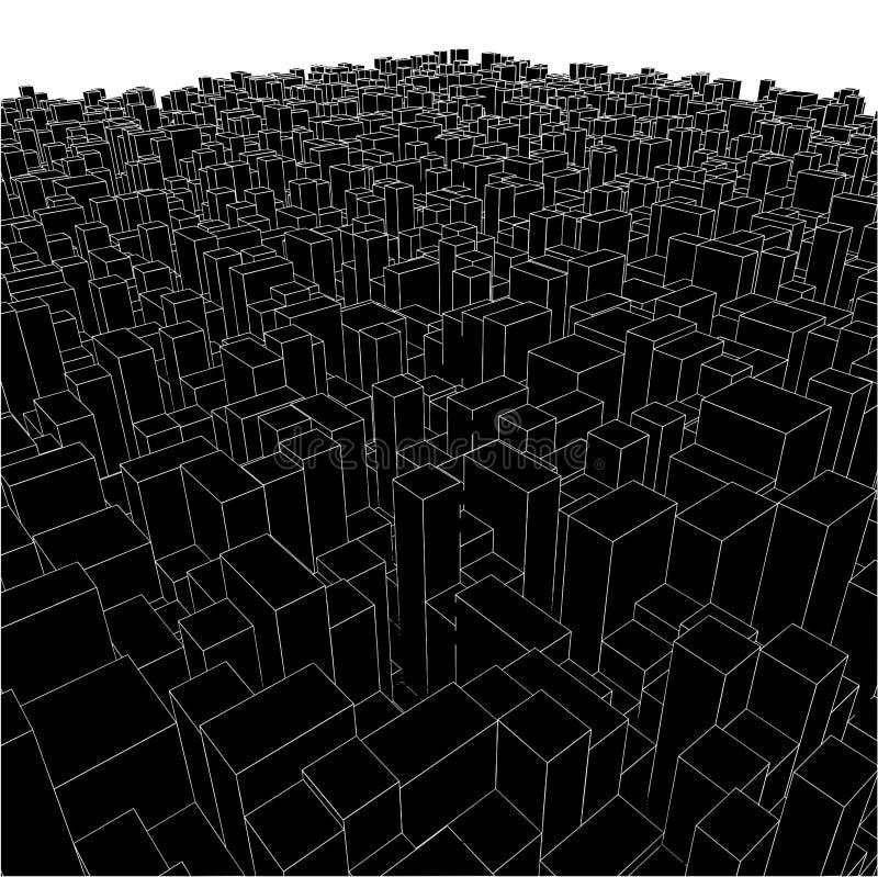 αστικό διάνυσμα κύβων πόλε&o απεικόνιση αποθεμάτων