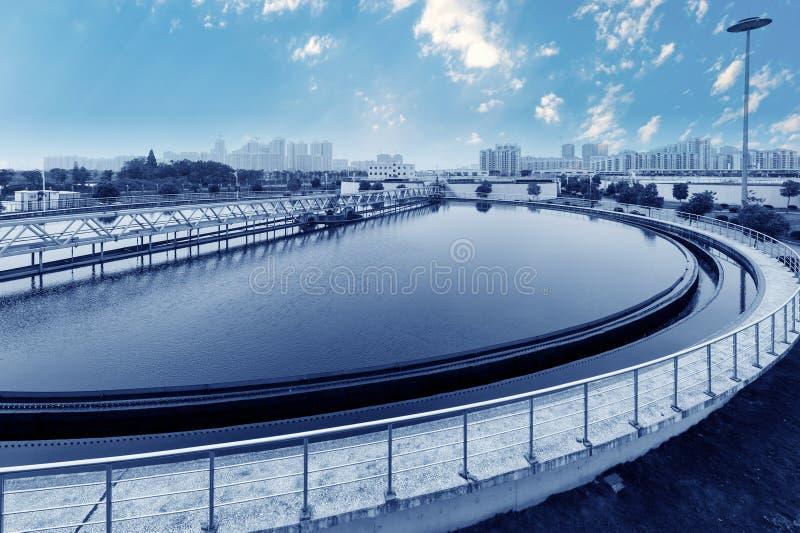 Αστικό εργοστάσιο επεξεργασίας απόβλητου ύδατος στοκ φωτογραφία με δικαίωμα ελεύθερης χρήσης