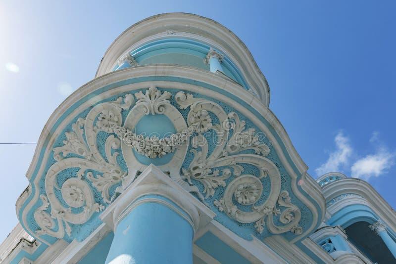 Αστικό ιστορικό κέντρο Cienfuegos - περιοχή παγκόσμιων κληρονομιών της ΟΥΝΕΣΚΟ στην Κούβα στοκ φωτογραφία με δικαίωμα ελεύθερης χρήσης