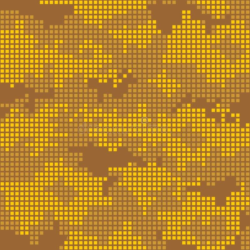 Αστικό σχέδιο camo - κίτρινα εικονοκύτταρα απεικόνιση αποθεμάτων