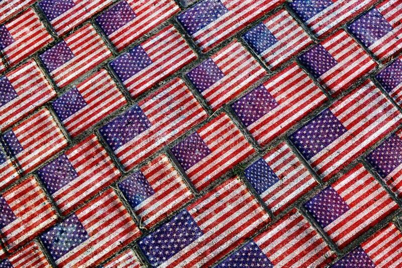 Αστικό σχέδιο Grunge αμερικανικών σημαιών απεικόνιση αποθεμάτων