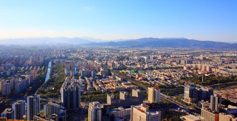 Αστικό τοπίο του Πεκίνου στοκ φωτογραφίες με δικαίωμα ελεύθερης χρήσης