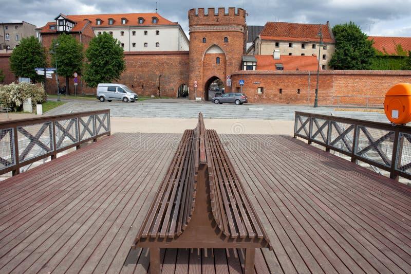 Αστικό τοπίο του Τορούν στην Πολωνία στοκ εικόνες