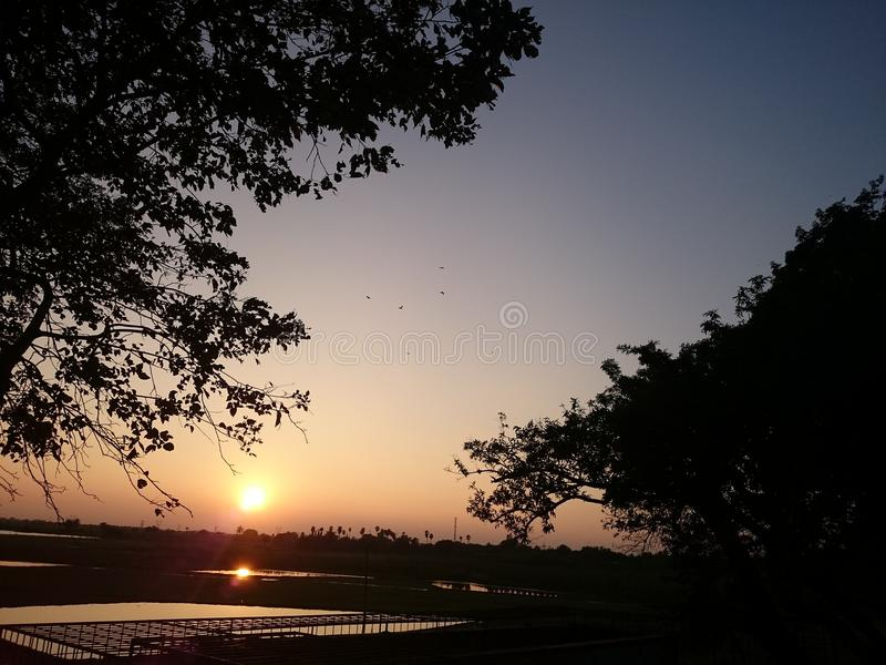 Αστράψτε ηλιοβασίλεμα στοκ εικόνες